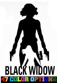 Home Decor Black Widow Silhouette Avengers Decal Car Window Vinyl Decal Sticker Laptop Unitransbahia Com Br