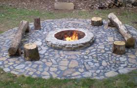 patio backyard fire pit image of build