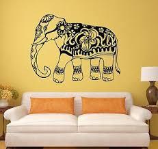 Vinyl Wall Decal India Elephant Animal Ornament Stickers Mural 150ig Ebay