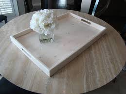 rustic ottoman tray white wooden tray