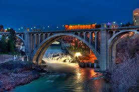 spans over the spokane river