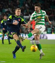 Celtic's Greg Taylor in action with Hamilton's Adrian Beck during the...  News Photo - Getty Images