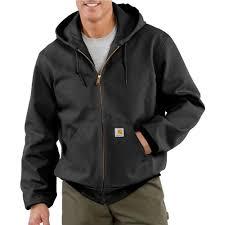 large black cotton duck active jacket