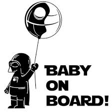 Baby On Board Star Wars Car Truck Window Bumper Vinyl Decal Sticker Star Wars Decal Car Decals Vinyl Vinyl Decal Stickers