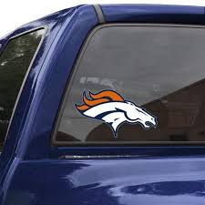 Amazon Com Nfl Denver Broncos 8 Color Team Logo Car Decal Sports Related Tailgater Mats Sports Outdoors