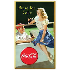 Coca Cola Pause For Coke Baseball Wall Decal Etsy