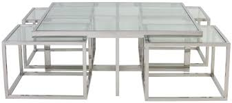 macara coffee table set glass and