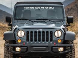 Windshield Banner Strip Decal Sticker Compatible With Jeep Wrangler Banner Sunproof Window Ultimateprocy