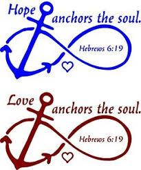 Hope Or Love Anchors The Soul Hebrews 6 19 Window Wall Vehicle Decal Spiritual Ebay