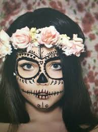 of gorgeous sugar skull makeup done