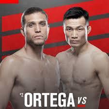 Ortega vs Korean Zombie ufc fight night ...