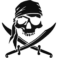 Pirate Skull Swords Vinyl Decal Sticker