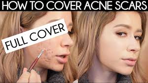 how to cover acne scars how to cover