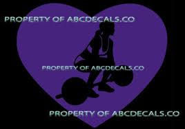Vrs Heart Love Weight Lifting Girl Cross Fit Deadlift Car Decal Vinyl Sticker Home Garden Children S Bedroom Sports Decor Decals Stickers Vinyl Art Ayianapatriathlon Com
