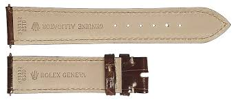 rolex 19mm brown strap 335112 for
