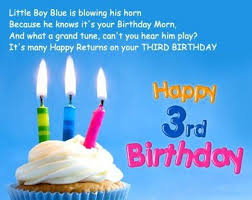 3rd Birthday Wishes Images Quotes Birthdayfunnymeme Birthday Boy Quotes Happy Birthday Love Quotes Birthday Wishes And Images