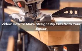 How To Make Straight Rip Cuts With Your Jigsaw Rockler