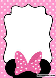 Free Minnie Mouse Kids Polkadot Invitation Templates Tarjetas