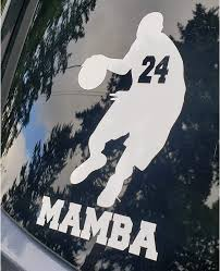 Amazon Com Bro Joe Decal 24 Lakers Basketball Kobe Bryant The Black Mamba 4x7 Inches Tribute Sticker Decal For Your Car Truck Suv Auto Window Or Body Tablet Or Laptop Lid Automotive