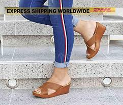 criss cross leather sandals wedge