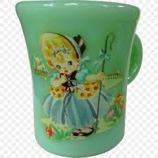 coffee cup mug jadeite fire king glass