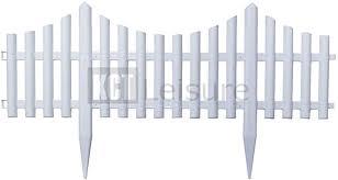 Kct 8 Interlocking Flexible White Picket Fence Garden Borders Pack Of 2 Amazon Co Uk Pet Supplies