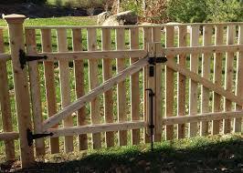 Wood Double Drive Gate Carl Jpg 500 357 Picket Fence Gate Fence Gate Wood Fence Gates