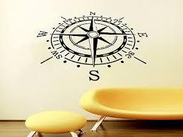 Compass Wall Decal Compass Rose Nautical Decor Vinyl Sticker Nursery Room Ns607 22 99 Picclick