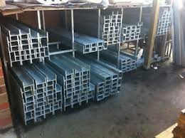Galvanised H Channel Steel Posts Sleepers Retaining Wall Garden Diy Post Ebay