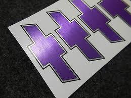 Chevy Wheel Rim Center Cap Logo Decal Brushed Purple Sticker Set Of 4 Chevrolet