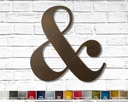 Ampersand Wall Art Etsy