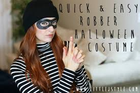 quick easy robber costume