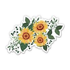 Sunflowers 12 Vinyl Sticker Waterproof Decal Walmart Com Walmart Com