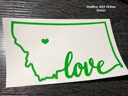 Add A Heart Over A City Montana State Home Decal Mt Home Car Vinyl Sticker Home Garden Children S Bedroom Cars Decor Decals Stickers Vinyl Art