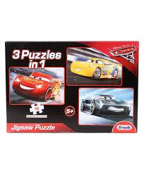 disney pixar cars 3 in 1 jigsaw puzzle