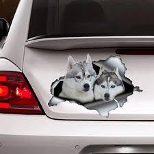 Siberian Husky Sticker Car Decoration Car Sticker Vinyl Etsy