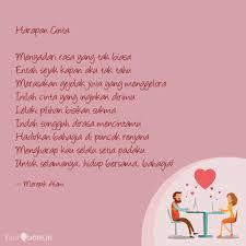 harapan cinta menyadari quotes writings by fitri