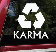 Karma Recycle Vinyl Decal Sticker Recycle Buddhism Fate Etsy