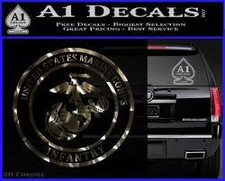 Marine Corp Infantry Emblem D2 Decal Sticker A1 Decals