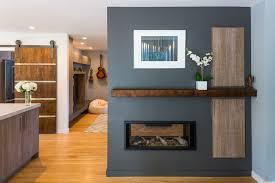 modern two sided fireplace an aptos