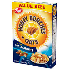 crispy almonds cereal 28 oz box
