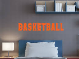 Basketball Lettering Wall Vinyl Decals Sticker Boys Room Decor Sports Art