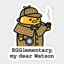 Sanrio Egg Gudetama Sherlock Holmes Watson Vinyl Decal Sticker Laptop Car Bumper Ebay