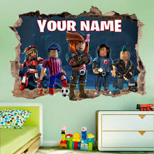 Roblox Personalized 3d Smashed Wall Decal Broken Wall Sticker Wall Art Dalvars On Artfire