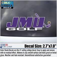 Jmu Golf Decal University Outpost