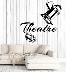 Vinyl Wall Decal Theatrical Art Laughing Crying Masks Cinema Film Stic Wallstickers4you