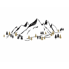 Harriet Bee Mountain Wall Decal Wayfair