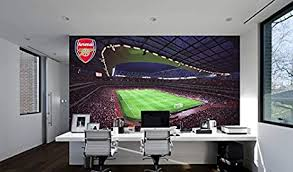 Amazon Com Official Arsenal Football Club Emirates Stadium Full Wall Mural Sticker Decal Vinyl Poster Print 2 5m Height X 3m Width Baby