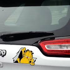 Car Styling Cartoon Garfield Funny Car Sticker And Decal Cute Car Accessories For Bmw Ford Focus Vw Skoda Renault Kia Toyota Car Sticker Car Stickers And Decalsfunny Car Stickers Aliexpress