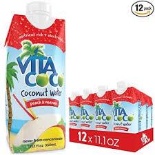 vita coco coconut water peach mango